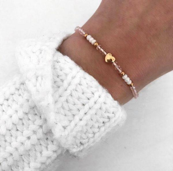 Rosé Heart Bracelet